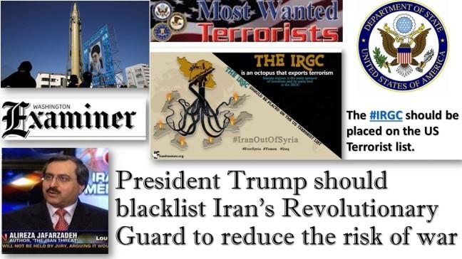 President Trump should blacklist Iran's Revolutionary Guard to